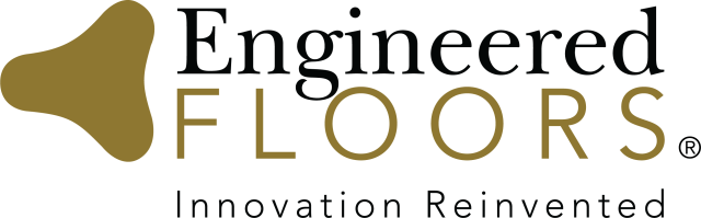 "Engineered Floors Logo with quote: ""Innovation Reinvented"""