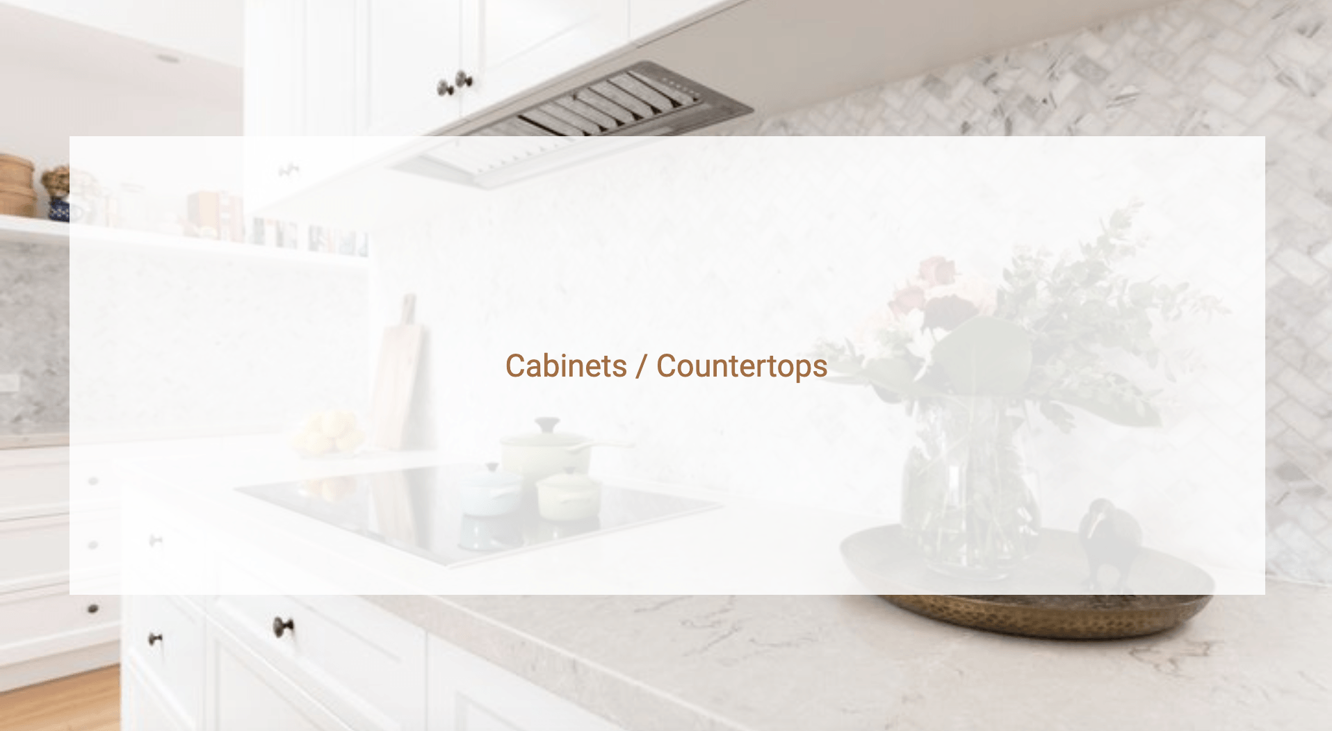 Cabinets / Countertops with image of white cabinets and countertop in the background