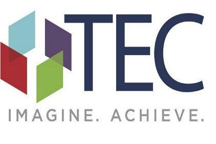 """TEC Logo with quote: """"Imagine. Achieve."""""""