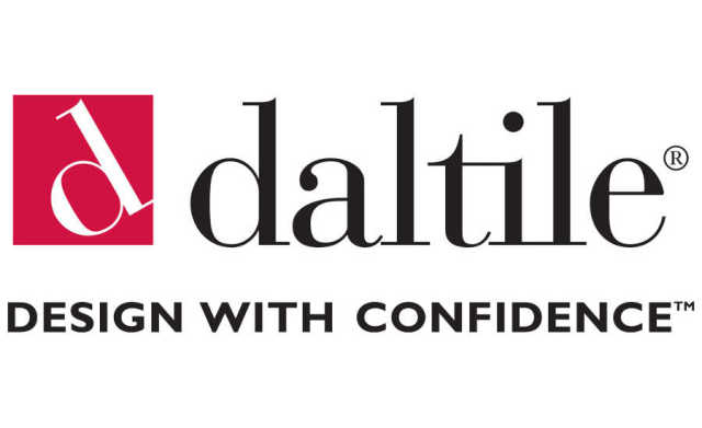 "Daltile Logo with quote: ""Design With Confidence"""