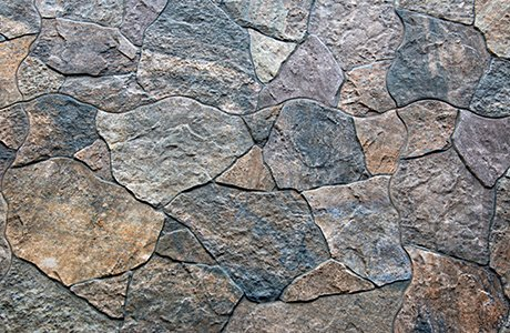 Natural Stone of various non-uniform shapes and colors