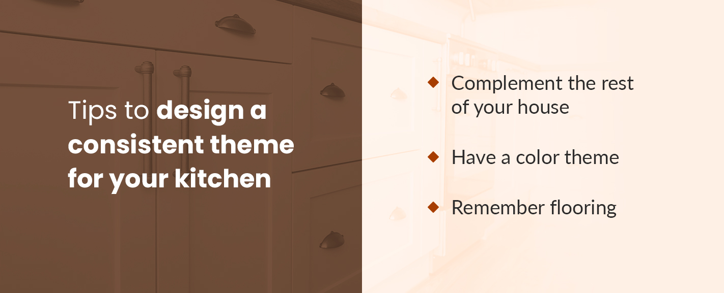 Tips to design a consistent theme for your kitchen