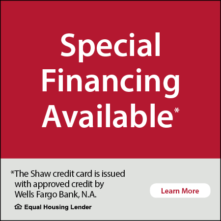 Special Financing Available - Click to learn more