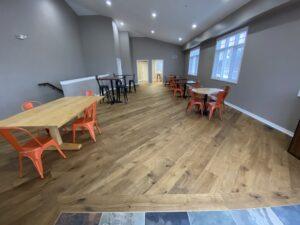 Full room with engineered hardwood flooring